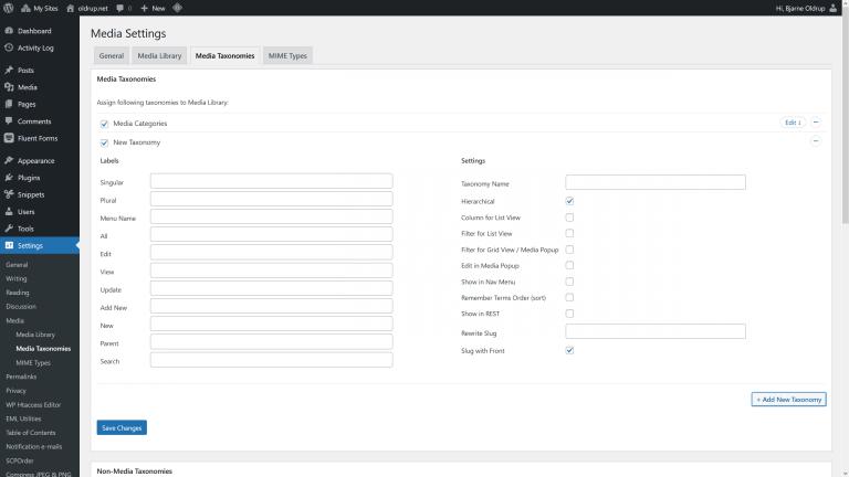 Enhanced Media Library Screenshot 2 - Custom media taxonimies (categories)