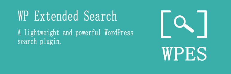 WP Extended Search banner